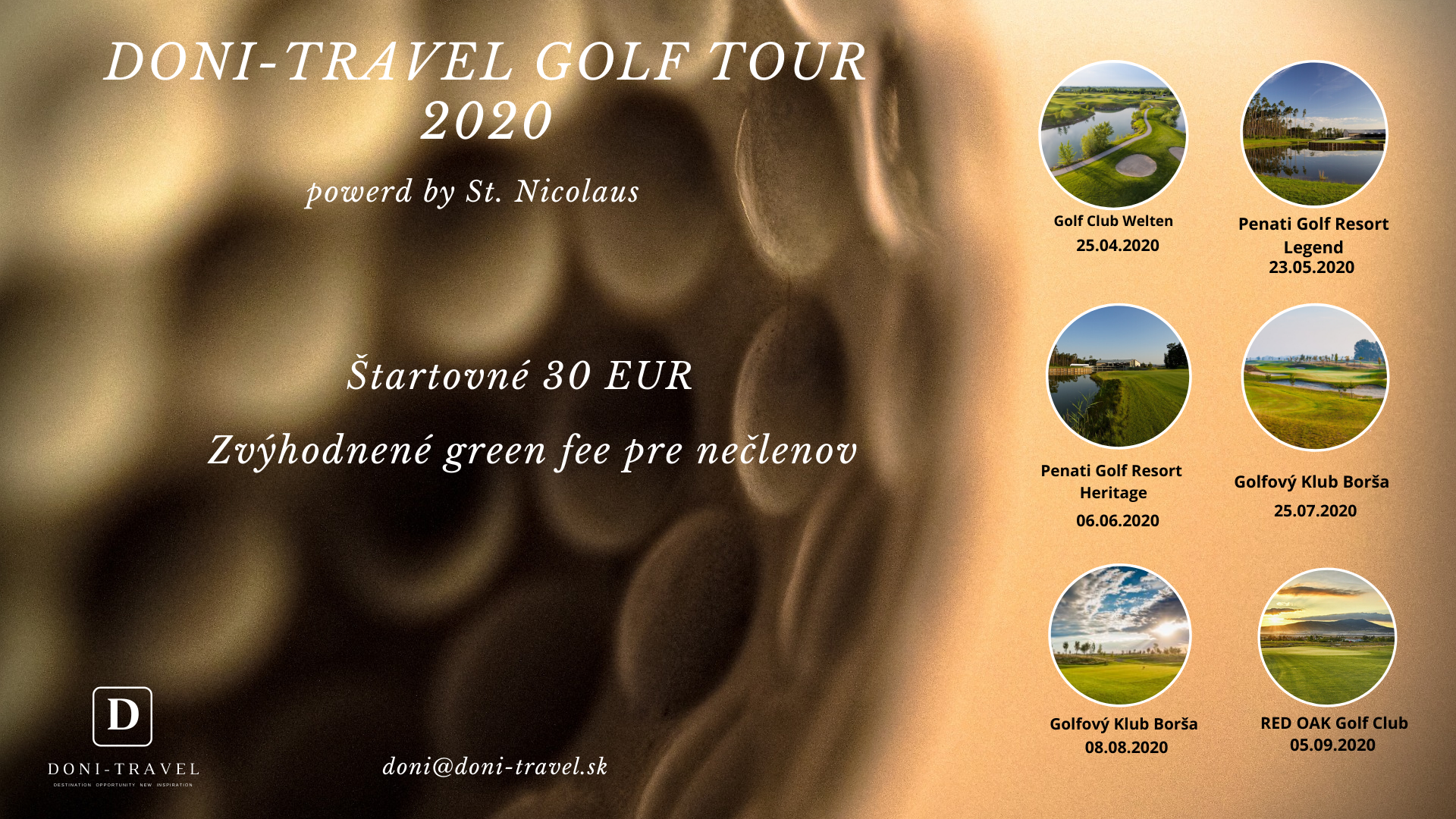 Doni-Travel golf tour 2020